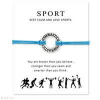 Charm Bracelets Gimnasia Calistenia Pulsera ajustable con tarjeta para mujeres Men Girls Gift Sporter