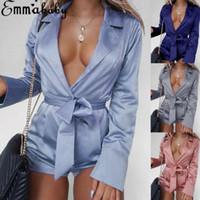 Sexy Femmes Combinaisons Mode Fashion Smoothy Femme Clubwear Shorts PlaySuit Bodycon Satin Body Body Pantalons Romper