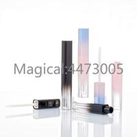 10/30 / 50 pcs Black Gradient Batom Cosmético Recipiente Recarregável, Vazio Portátil Quadrado PinkBlue Maquiagem Bordo Tubo de Brilho
