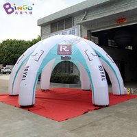 Barraca de ar inflável personalizada 6x6x3 / barraca inflável da aranha / tenda grande da tenda do dossel de ar