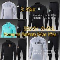 2020 2021 Algérie Soccer Jersey Maillot CoussSit 20 21 Две звезды Алжир трексуиты Куртки футбольные костюмы мужские + детские футбольные рубашки