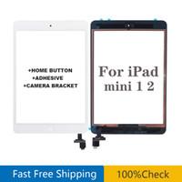 Für iPad Mini 1 Mini 2 Touchscreen Panel Digitizer Glas Panel Objektivsensor Reparatur + IC + Home Button Flex mit Aufkleber Kostenloser Versand