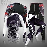 الملابس الداخلية الحرارية للرجال مجموعة طويلة جونز الشتاء الحرارية داخلية قاعدة طبقة الرجال الرياضة ضغط قمصان طويلة الأكمام
