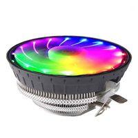 Pastiglie per raffreddamento per laptop CPU Radiatore radiatore a basso rumore RGB Ventola luminosa per computer desktop 775amdin Cooler1