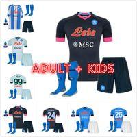 Adulti Kit Kit 20 21 NAPOLI Soccer Jersey Napoli Camicia da calcio 2020 Koulibaly Camiseta de fútbol Insigne Maillots H.lozano Mertens