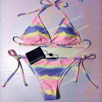 Hot Tie-Dye Bikinis Купальники Push Up Женщины Двухсексуалисты Купальники Открытый Пляж Путешествия Путешествия Каникулы Бандаж Купальный костюм Высокое качество