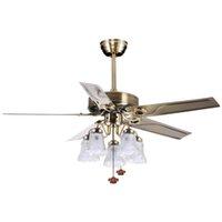 Blade métallique / lampe en bois blanc lampe de lampe de lampe de lampe d'ombre Tirez le support de câble de cuivre à 3 vitesses de plafond de cuivre de cuivre ajustable avec la lumière