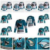 12 Patrick Marleau San Jose Sharks 2021 30-летие Huniversary Heritage Jersey Logan Couture Evander Kane Brent Burns Martin Jones Tomas Hertl