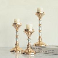 Titulaires de bougie en métal imuwen Bougeons d'or Bougie de mode Mode de mariée Exquisit Table Chandelier Parti Home Décoration LJ201018