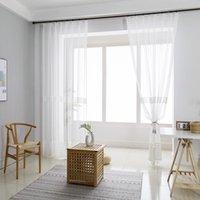 Rideau de tulle brodé blanc moderne simple pour la salle de séjour Modèle d'oiseau Balcon Transglucident Balcon Traitement de la fenêtre Drapé ZH223D