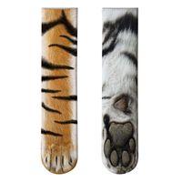 1 пара животных экипажа носки Unisex взрослый 3D печать Kitty Tiger Zebra леопард смешные новизны чулки для женщин мужчин подарки M7DD