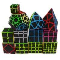9 tipos de la etiqueta engomada de fibra de carbono Velocidad Cubo mágico 2x2 3x3 4x4 5x5 Cubo Puzzle juguete niños Niños Regalo Juguete Juguete Jugado Adulto Instrucción 201224
