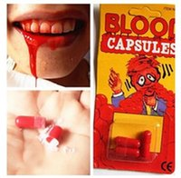 Engraçado pílula de sangue truque brinquedos caprichosa prop vômitos cápsula cápsula de amor dia piada brinquedo