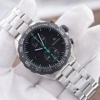 Nuevo reloj deportivo Montre de Luxe F1 Wristwatches Montre Japón Movimiento de cuarzo Cronógrafo Cara negra OROLOGI DA UOMO DI LUSSO