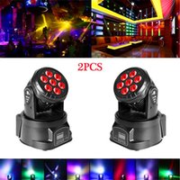 Merk 80W 7-RGBW LED Moving Head Lights Auto / Voice Control DMX512 Mini-lampen (AC 110-240V) Zwart * 2 Hoge helderheid Stadiumverlichting