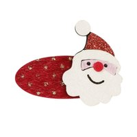 Рождественские волосы Аксессуар для волос Baby Girl Sequin Hair Clips Elk Santa Claus Socks Barnettes Hairpin Hair Head Accessorent CCB1647