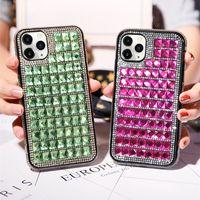 Para iPhone 12 Casos de Telefone de Diamante de Luxo Glass Rhinestone Designer Back Cover Protetor para APLE 12 Pro Max 11 x XS XR XS MAX 7 7P 8 8 8Plus