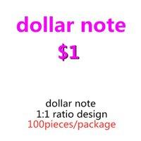 Spielzeug 100 teile / pack geld kopie 05 kopieren papier beste proquipfel billet geld us 1 dollar papier gefälschte banknoten prop geld kind faux ikplp