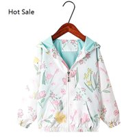 2020 Blumenherbst Trenchmantel Hoodie für Baby Girl Oberbekleidung Kinder Mode Kleidung Kinder Kleidung Mädchen Jacke