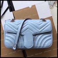 Crossbody Bag Frauen Luxurys Designer Taschen 2021 Handtaschen Geldbörsen Mode Umhängetasche Womens Messenger Bag Marmont Leder Handtasche