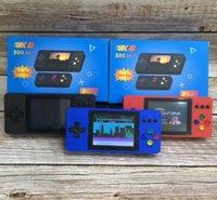 K8 Портативные удваивает портативное телевидение Видеоигра Консоль Console Mini Portable Handheld Game Box 500-IN-1 Arcade Play Handheld Game Players