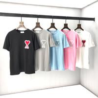2020 AMI Giyim Homme T Gömlek Erkek Erkek Kadın Tasarımcı Hoodies Yüksek Sokak Baskı T Gömlek Boyutu S-M-L-SL-XXL F1