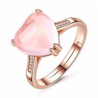 Moonrocy cor rosa cor rosa anel de opala ross quartzo coração de cristal jóias por atacado para mulheres meninas dropshipping amante amante presente1