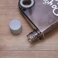 خاتم واضح زجاجة المياه 13 أوقية الإبداعية دفتر زجاجة المياه المحمولة الرياضة زجاجة المياه غلاية بلاستيكية الورك قارورة 7 ألوان PPD3438