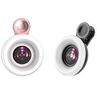 Flash Heads LED Телефон Линза Selfie Ring Light Mobile Fill HD Макрос Дизммируемый Ламп Beauty Ringlight1