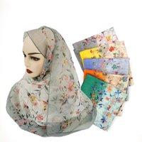 Bufanda de seda impresa de gran tamaño delgada Protección solar de verano y bufanda de moda a prueba de viento Hijab Bufanda para damas de seda