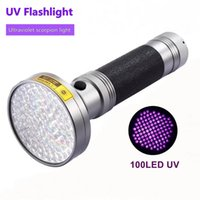 18W 100LED High Power UV-Taschenlampe Fackel 395NM Ultraviolett-Scorpions-PET-Urin-Leck-Detektion LED-Licht AA-Batterie