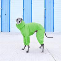 Vêtements de chien de couleur unie Collier Haut automne hiver chaleureux pull à pull chaud Ropa para perros accessoires mode nouveau 27lm g2