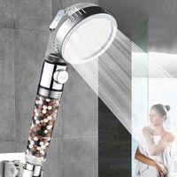 Banheiro 3-função SPA chuveiro cabeça com botão ON / OFF botão de alta pressão Anion Anion Head Head Heaving Duche