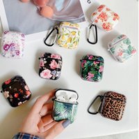 For AirPods 2 Case  Retro Flower Rose Leopard print  marble ...