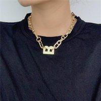 الأزياء العلامة التجارية كابيتال رسائل b punk قلادة أساور ذهبي اللون سلسلة الأولي إلكتروني الهدايا للنساء الأزياء الأبجدية المجوهرات