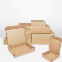 كرافت ورقة مربع 10 قطعة / الوحدة براون آخر الحرف حزمة صناديق التعبئة والتغليف تخزين كرافت مربع صناديق البريد مربع