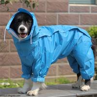 كبير الكلب معطف واق من المطر ماء بذلة المطر ل كبير متوسطة الكلاب الصغيرة الذهبي المسترد في الهواء الطلق ملابس الحيوانات الأليفة معطف