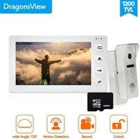 DragonsView Weitwinkel-Video-Türsprechanlage Intercom-Türklingel-Kamera-Recorder HD 1200TVL 7-Zoll-Innenmonitor für Privathaus1