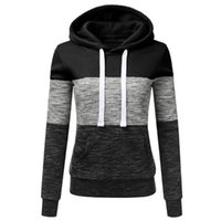 Women's Hoodies & Sweatshirts Fashion Casual Sweatshirt Patchwork Ladies Sport Hooded Autumn&Winter Daily Warm Collocation Outfit