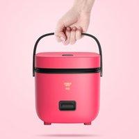 220 V Mini İşlevli Elektrikli Pişirme Makinesi Ev Tek / Çift Katmanlı Sıcak Pot Çok Elektrikli Pirinç Ocak Yapışmaz Tava