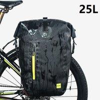 Multifunktionale wasserdichte Fahrradtasche MTB Road Fahrrad Hinterer Rack Kofferbeutel Radfahren Rückseite Schultergepäck 25L1