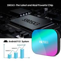 HK1 AMLogic نوع S905X3 التلفزيون مربع الروبوت 9.0 الذكية 1000M 8K 128G روم رباعية النواة 4G رام 64G