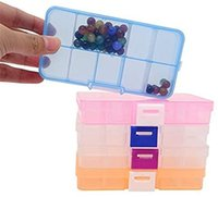 10 сетки ювелирных изделий ящик для хранения пластиковых прозрачных витрины