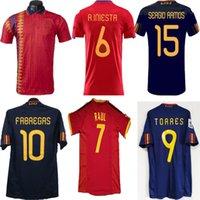 İspanya Retro Futbol Formaları 1994 2002 2010 Sergio Ramos Klasik A.iniesta Torres Raul Formalar Xavi David Villa Camisa de Futebol Gömlek