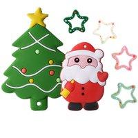 Chewely Baby Teether Silicone Teether Regalos de Navidad Árbol Capa de nieve Cadena de Cadena Haciendo GRADO DE ALIMENTOS