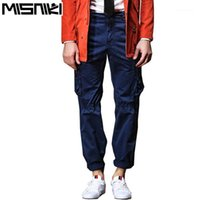 Pantalons pour hommes Misniki Hommes Cargo Coon Pantalons Armée Multi Poches Logement Cyg2621