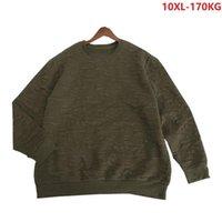 Plus size 10xl homens primavera sweater outono quente 8xl 9xl homem puxar sobre suéter algodão armandogreen 150kg 160kg 170kg solta casual tops1
