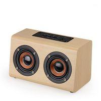 Haut-parleurs combinés en bois Bluetooth haut-parleur Bluetooth Soundbar portable HIFI BASS audio Bar Caixa de Som1