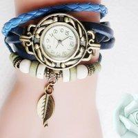 Relojes de pulsera Otoky Reloj de Mujeres Acero Inoxidable Mujeres Niños Retro Pulsera de cuero Pulsera Hoja Colgante Moda Elegante Automático1