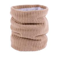 Гитровка толстого трикотажных шеи Мягкий флисовый выровненный круг шарф зимняя шея теплые ветрозащитные шарвы подарки для женщин